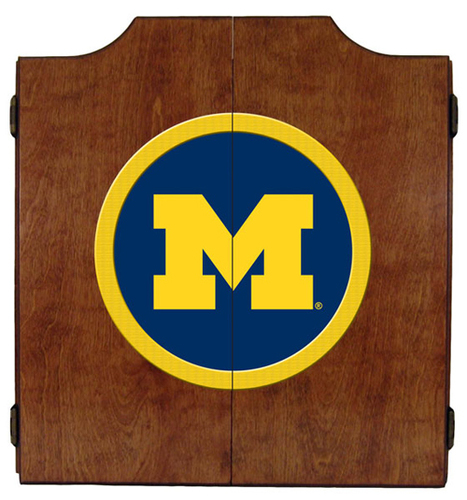 Michigan Dart Board Cabinet