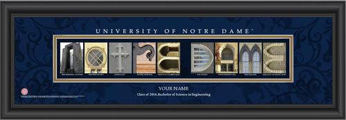 Notre Dame Campus Letter Art Personalized Print