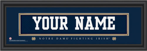 Notre Dame Jersey Nameplate Personalized Print