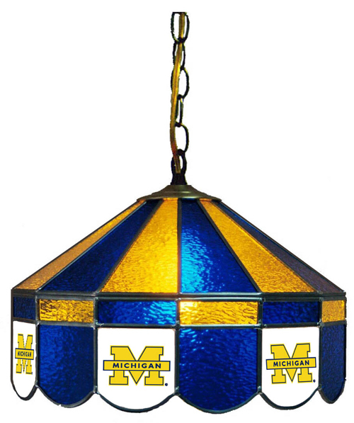 Michigan Stained Glass Hanging Lamp (16