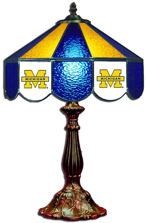 Michigan Stained Glass Table Lamp (14