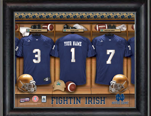 Notre Dame Locker Room Jersey Personalized Print