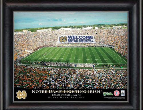 Notre Dame Stadium Personalized Print