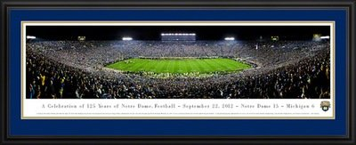 ND Football Panoramic Win Over U-M