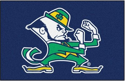 Notre Dame Leprechaun Rug/Mat: 4 Sizes Available!
