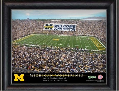 Michigan Stadium Personalized Print