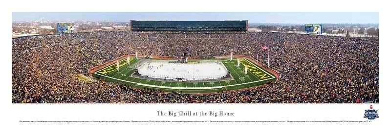 Big Chill Hockey Game Panoramic Print
