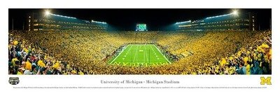 U-M Big House First Night Game vs. Notre Dame Panoramic Print
