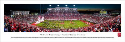 NC State Football Panoramic Print Carter Finley Stadium