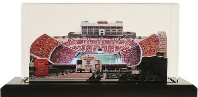 NC State Carter Finley Stadium Replica w/LED Lighting and Display Case