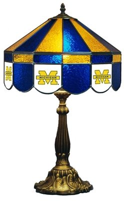 Michigan Stained Glass Table Lamp (16