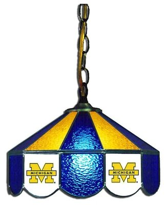 Michigan Stained Glass Hanging Lamp (14