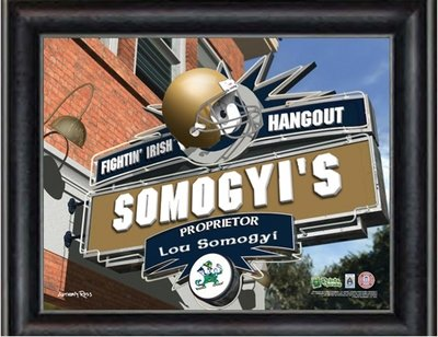 Notre Dame Sports Hangout Personalized Print