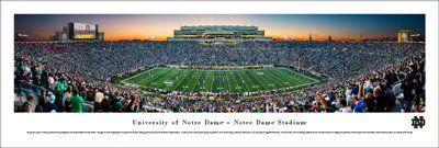 ND Football Panoramic Renovated Stadium 2017