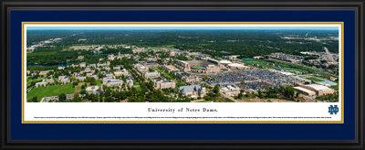 Notre Dame Stadium Aerial View 2017 Panoramic Print