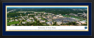 Notre Dame Stadium Aerial View 2017 Panoramic Print