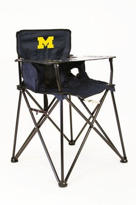 Michigan Wolverine High Chair with Carry Bag