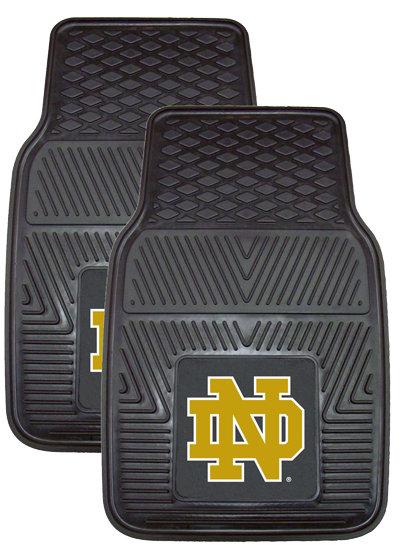 Notre Dame 2-pc Vinyl Auto Mat Set