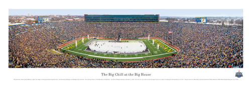 Big Chill Hockey Game Panoramic Print