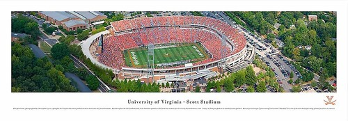 UVA Scott Stadium Aerial Panoramic Print