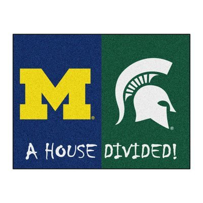Michigan-Michigan State House Divided Rug