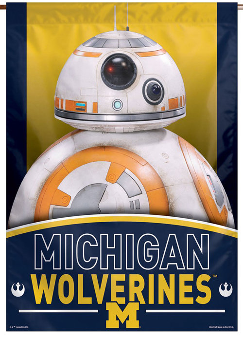 Michigan Star Wars BB-8 Droid Vertical Banner