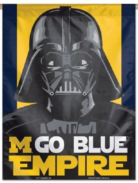 Michigan Star Wars Darth Vader Vertical Banner