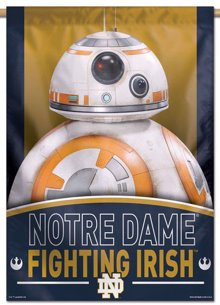 Notre Dame Star Wars BB-8 Droid Vertical Banner