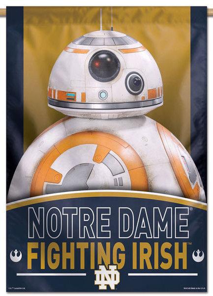 Notre Dame Star Wars BB-8 Droid Vertical Banner