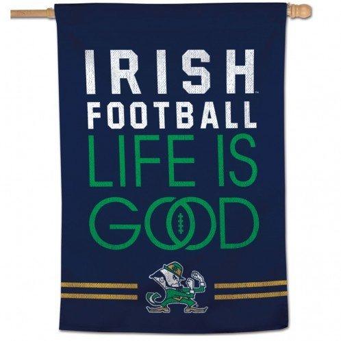 Notre Dame Vertical Banner - Irish Football Life Is Good