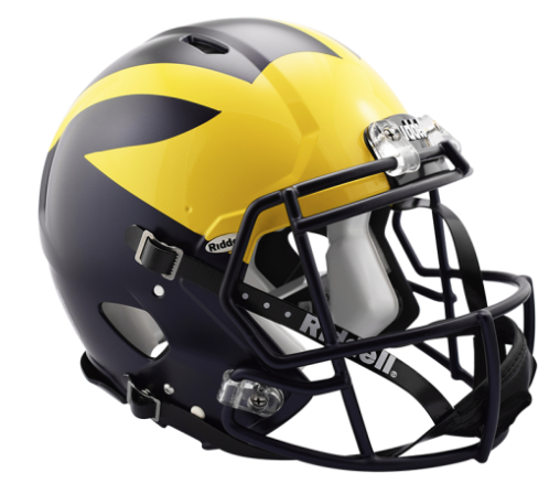 Michigan Speed Authentic Helmet by Riddell