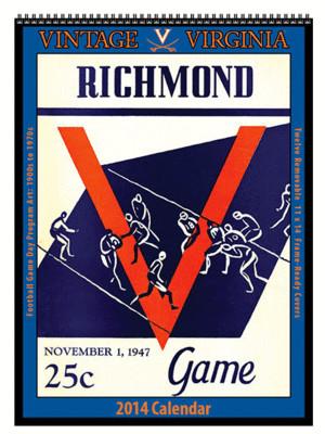Virginia 2014 Vintage Football Calendar