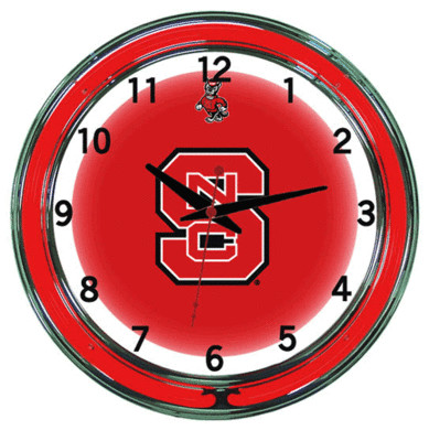 NC State Neon Clock