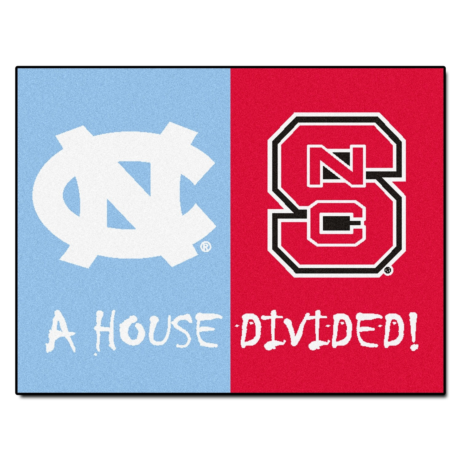 NC State-UNC House Divided Rug