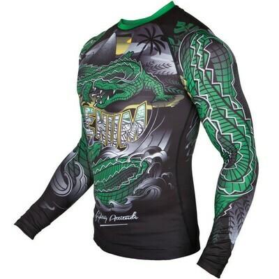 Рашгард с длинным рукавом VENUM Crocodile black/green
