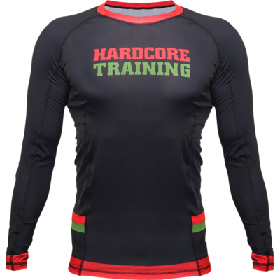 Рашгард с длинным рукавом Hardcore Training Red-Green