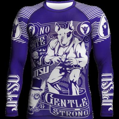 Рашгард с длинным рукавом Jitsu Gentle & Strong Navy