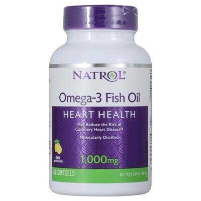 Рыбий жир Omega 3 Natrol Fish Oill 1000 mg