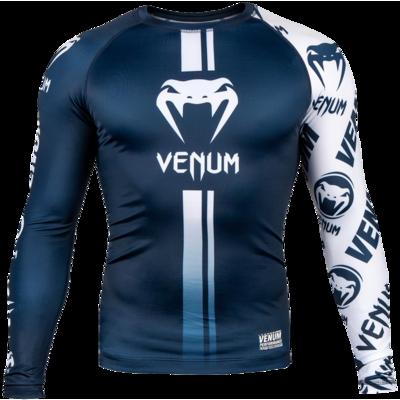 Рашгард с длинным рукавом Venum Logos Navy/White