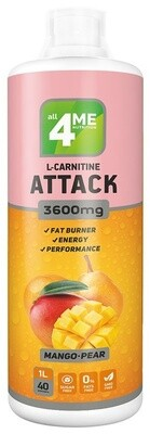 L-Карнитин 4Me Nutrition L-carnitine + Guarana Attack 3600 1000мл