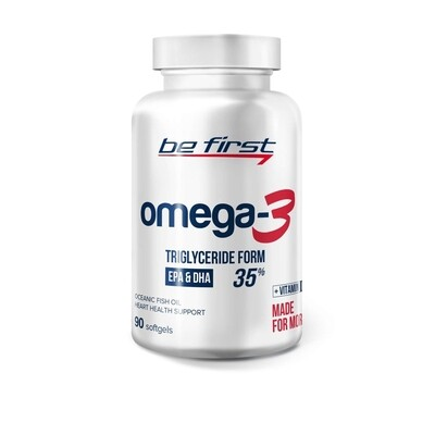 Рыбий жир Be First Omega 3 + витамин E 90капс