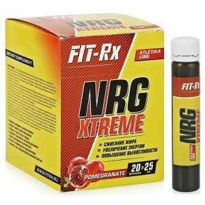 Предтренировочный комплекс FIT-RX NRG Xtreme 25мл