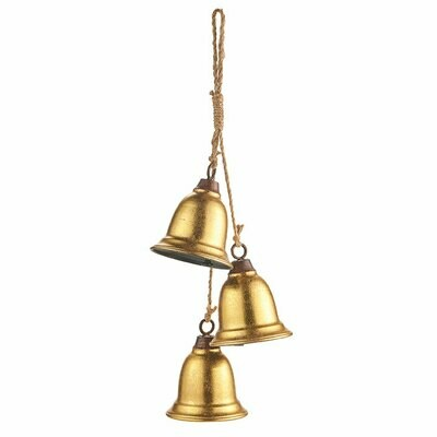 3-Bell Swag - Gold Metal - 18