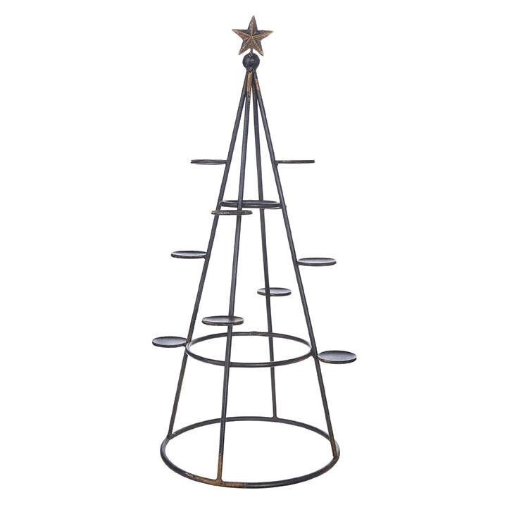 "10-Candle Tree Candelabra - Metal - 30.25""H"