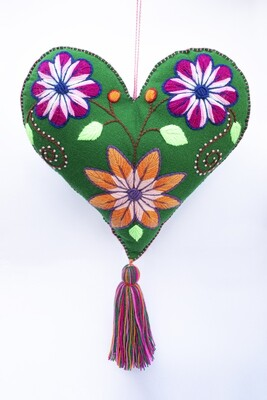 Big Heart Ornament - Green