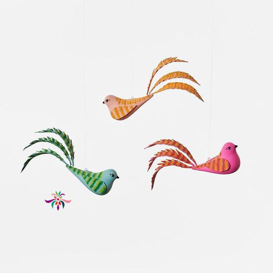 "Bird Ornament - Teal - 5.5""W"