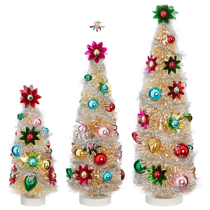 "Bottle Brush Tree - Multicolor - Medium - 12.5""H"