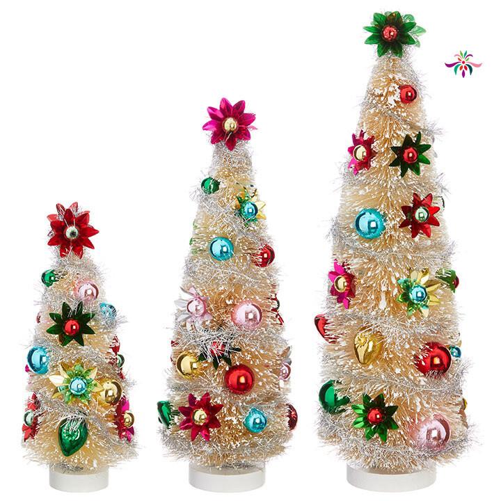 "Bottle Brush Tree - Multicolor - Large - 15.5""H"