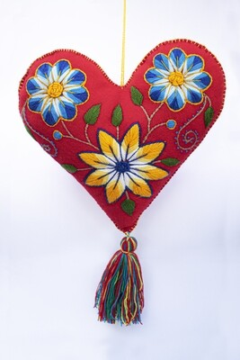 Big Heart Ornament - Red
