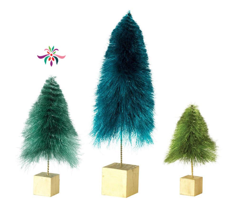 "Mini Tree - Dark Green - Medium - 8.25""H"